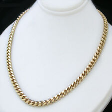 "New 4mm Rounded CURB Link 30"" 14k GOLD GL MENS Necklace 