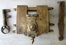 HEAVY WEIGHT TRICKY BRASS LOCK WITH TWO KEYS MUGHAL REPLICA