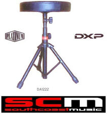 SaLE DXP DA1222 HEAVY DUTY DRUM STOOL THRONE VERSATILE BLACK TRIPOD 50CM HEIGHT