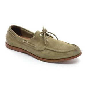 Men Timberland CTN PNE 2L Boat Shoes 13 M Distressed Taupe Suede 2 Eye Lace Up