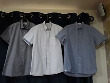 Bundle x 3 Mens/boys Short Sleeved Shirts 40 Inch chest all fab only worn once