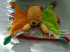 Doudou Disney Winnie the pooh plat orange vert pluie attache tetine ZIGZAG NEUF