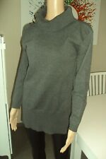 PULL/GILET/SWEAT-N1- long pull gris col roulé WEIEX JIA - T XL -> M/L- occasion