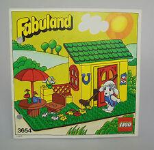 LEGO ® Fabuland-Recipe-per Set 3654 istruzioni FORATI BA 1982