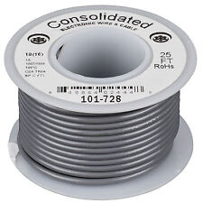 Consolidated Stranded 18 AWG Hook-Up Wire 25 ft. Gray UL Rat