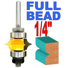 """1 pc 1/4"""" Shank Full Bead with Two Bearings Router Bit sct-888"""