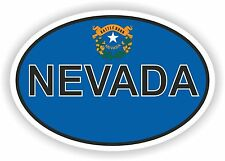 OVAL NEVADA STATE WITH FLAG USA STICKER AUTO MOTO TRUCK LAPTOP BIKE TABLET CAR