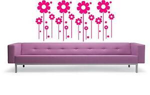 FLOWERS - WALL ART STICKERS - VINYL ART DECALS