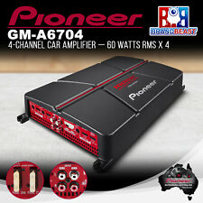 Pioneer GM-A6704 1000W 4-Channel Bridgeable Amplifier with Bass Boost