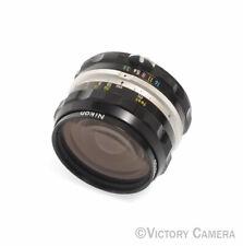 Nikon Nikkor-H 2.8cm 28mm f3.5 non-AI Manual Focus Lens –Clean- (9125-7)