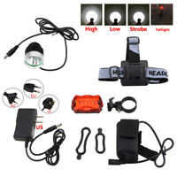 8000Lm XM-L T6 LED Super Bright Head Bicycle Bike Light Headlamp Battery+Charger
