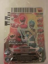 Power Rangers Action Card Game P-189 Red & Green Mighty Morphin SDCC 2013 Promo