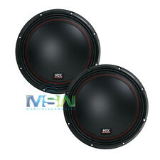 "(2) MTX 5510-22 10"" 55-Series DUAL 2-OHM CAR AUDIO STEREO SUB SUBWOOFERS *PAIR*"