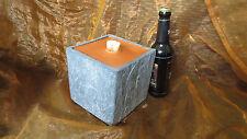 Ein XXL  Schmelzlicht , Kerze , Fackel mit Kupferbrenner in Schwarz