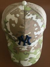 BUDWEISER CAP HAT MILITARY CAMO NY NEW YORK YANKEES CAMOUFLAGE 2019 7/13/19 SGA