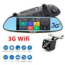 "7"" 3G HD 1080P Car DVR Video Recorder WIFI Dual Lens Rearview Mirror Dash Cams"