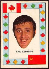 1972 73 OPC TEAM CANADA PHIL ESPOSITO VS RUSSIA HOCKEY SERIES EXNM Boston Bruins