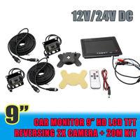 """18 led infrarossi retromarcia auto retrocamera camper 9"""" Monitor kit telecamera"""