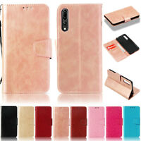 For Huawei P20 Lite Y9 Y6 2018 Honor 7X 7A Retro Wallet Leather Flip Case Cover