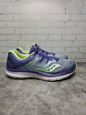 New listing Saucony Everun Guide ISO Women's Purple Green Gray Running Shoes Size 8 S10415-1