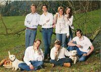 ~~~ ORGINAL~~~ POSTKARTE ~~~ Großherzogin Maria Teresa von Luxemburg mit Familie