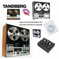 Tandberg reel to reel tape recorder deck service operation instruction manual