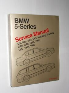 BMW 5-Series Service Manual 1989 Through 1995. 2002 Reprint Softback Book.