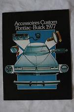 PONTIAC BUICK ACCESSOIRES CUSTOM 1977 Canadian brochure sales catalog - 02