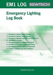 Kewtech EMLOG Emergency Lighting Log Book
