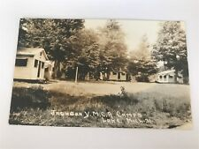 Jackson YMCA Y.M.C.A. Camps Lake Michigan MI Mich RPPC Postcard