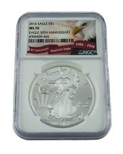 2016 Argent American Eagle MS-70 NGC, Aigle 30th Anniversaire