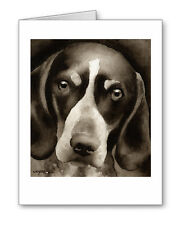 Bluetick Coonhound note cards by watercolor artist Dj Rogers