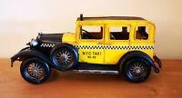NEW YORK Oldtimer TAXI Yellow Cap USA Blechauto Blech Modellauto 30er 40er Jahre