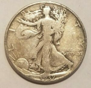 1937 D Walking Liberty Half Dollar Silver coin 50 cents Walker 50c VERY NICE !