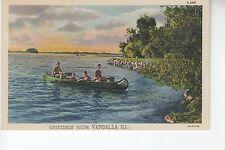 Canoe Greetings from Vandalia  IL ILL     S-348