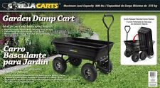 Gorilla Carts Poly Garden Dump Cart with Steel Frame and 10-Inch Pneumatic Tires