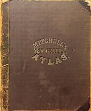 Mitchell's New General Atlas, 84 Maps & Plans, Complete & Original, 1864