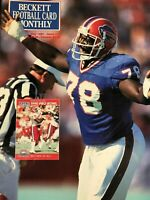 Beckett Football Card Monthly Magazine #14 May 1991 Bruce Smith