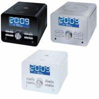 Terris CDR264 CD-Player 2.0 Streaming UKW Uhrenradio Aluminium