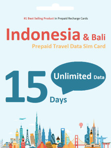 15 days Indonesia Bali Unlimited Data Travel SIM card 4G Indosat Network