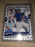 2020 Donruss Lorenzo Cain Star Emoji Baseball Card #80 Milwaukee Brewers