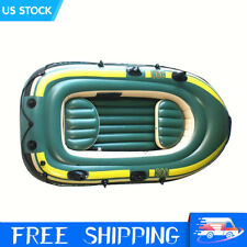 New listing Heavy Duty Inflatable 3 Person Boat  Fishing Rowing Boat Raft Canoe Kayak PVC