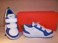 Nike Pico 4 scarpe ginnastica sportive sneakers bimbo bambino pelle bianche 22