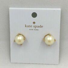 Kate Spade Cream Pearl Gold Round Stud Pierced Earrings O0RU1011