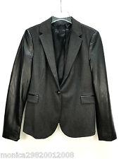 Zara Veste Blazer Simili Cuir Manches Taille XL Ref 7832/390