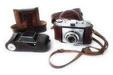 Kodak Vintage Retina IIa and Retinette 35mm Cameras with Original Leather Cases