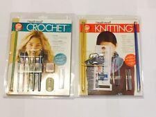 I Taught Myself Knitting Kit And I Taught Myself Crochet Kit Combo 2 Full Kits