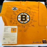 Rare 2005-06 Boston Bruins Team Signed Authentic Jersey 33 Sigs With JSA COA