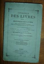 Catalogue des livres composant la bibliothèque de Feu M. J.-F. Payen