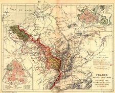 FRANCE. Versant Mer Nord Bassins Rhin Meuse Escaut; Strasbourg; Lille 1880 map